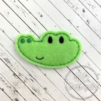 Alligator Head Felt Stitchies
