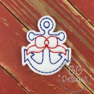 Anchor with Bow Felt Stitchies