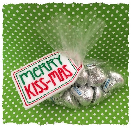 Merry Kissmas Treat Bag Topper