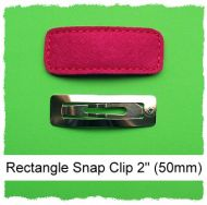 *SINGLE* 50mm Rectangle Snap Clip Cover Felt Stitchies