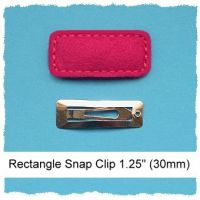 30mm Mini Rectangle Snap Clip Cover Felt Stitchies