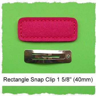 *SINGLE* 40mm Rectangle Snap Clip Cover Felt Stitchies