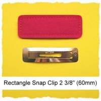 *SINGLE* 60mm Rectangle Snap Clip Cover Felt Stitchies