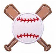 Baseball Bat & Ball Applique