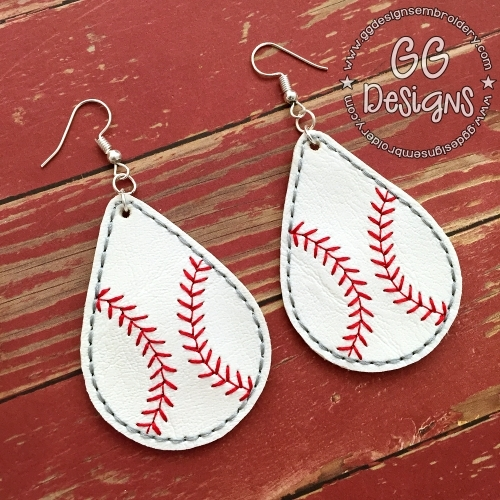 Baseball Teardrop Earrings