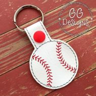 Baseball Snap Tab Key Fob