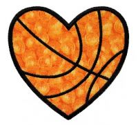 Heart Basketball Applique