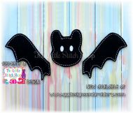 Bat Set Oversized Bow Parts Feltie