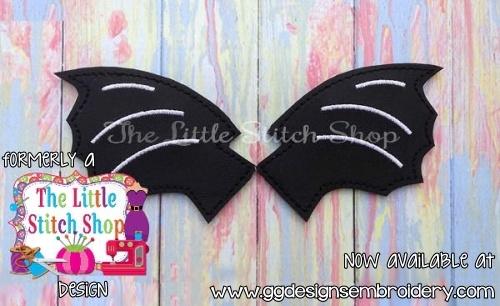 Bat Wings Oversized Bow Parts Feltie