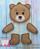 Bear Set Oversized Bow Parts Feltie