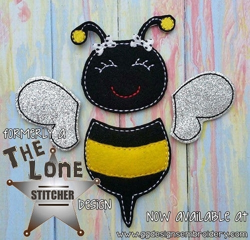 Bee Set Oversized Bow Parts Feltie