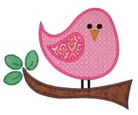 Birdie Two Applique