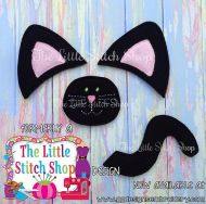Black Cat Oversized Bow Parts Feltie