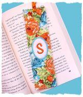 Shabby Monogrammed Bookmark 5x7