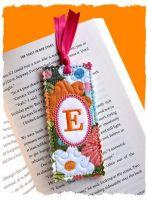 Shabby Monogrammed Bookmark 4x4