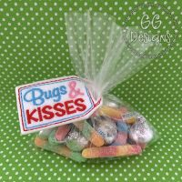 Bugs and Kisses Treat Bag Topper