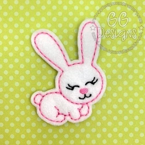 Big Eared Bunny Felt Stitchies