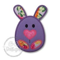 FREE Bunny Egg Applique