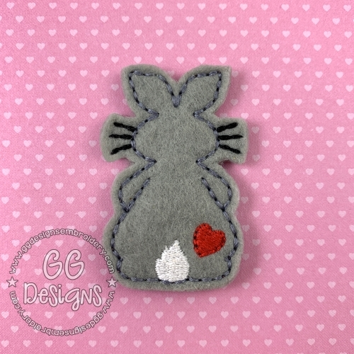 Bunny with Heart Felt Stitchies