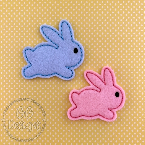 Simple Bunny Felt Stitchies