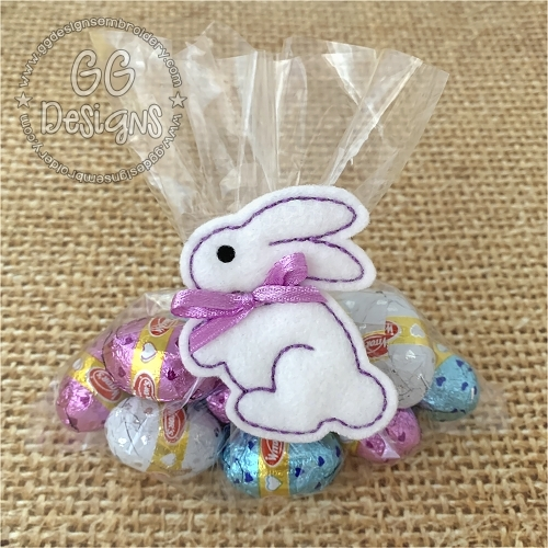 Sweet Bunny Treat Bag Topper
