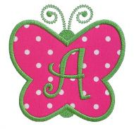 Butterfly Applique Monogram Alphabet
