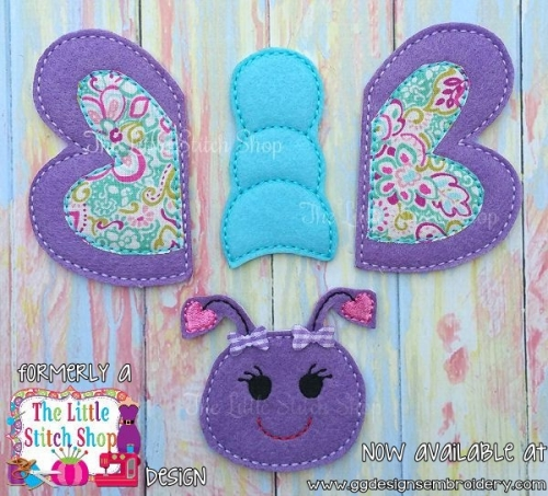 Butterfly Set Oversized Bow Parts Feltie