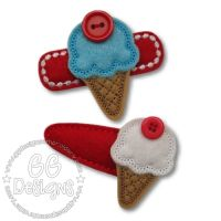 Button Icecream Felt Stitchies