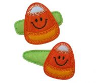 Smiley Candy Corn Felt Stitchies