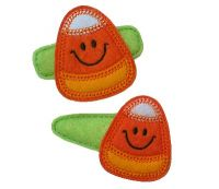 Smiley Candy Corn Felt Stitchies