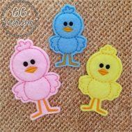 Standing Chick Felt Stitchies