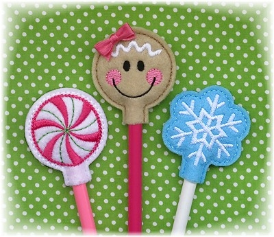 Christmas Pencil Toppers Set 2