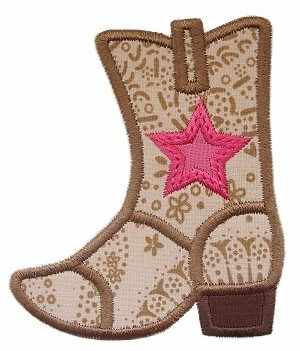Cowboy Boot Applique