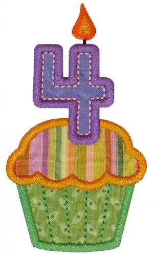 Cupcake Four Applique