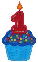 Cupcake One Applique
