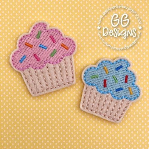 Sprinkles Cupcake Felt Stitchies