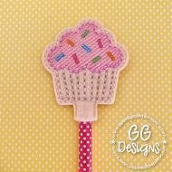 Sprinkles Cupcake Pencil Topper