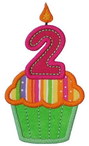 Cupcake Two Applique