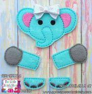 Elephant Set Oversized Bow Parts Feltie