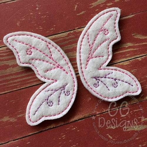 Fairy Wings Oversized Bow Parts Feltie