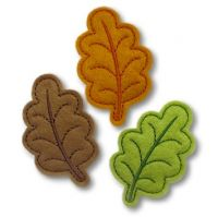 Autumn Leaf Clip Cover Felt Stitchies