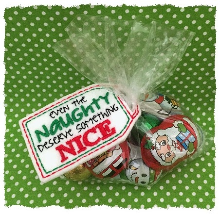 Naughty Nice Treat Bag Topper 2