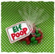 Elf Poop Treat Bag Topper