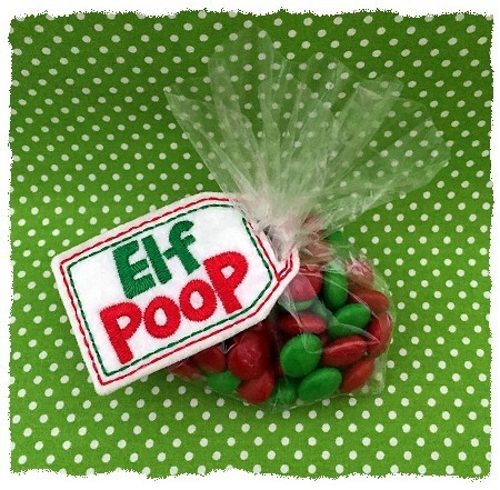 Elf Poop Treat Bag Topper