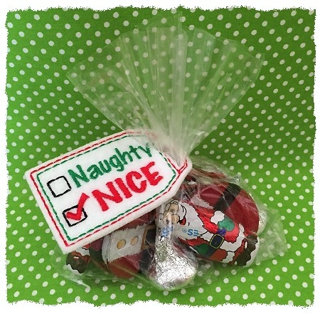 Naughty Nice Treat Bag Topper 1