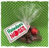 Reindeer Noses Treat Bag Topper