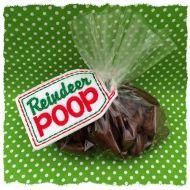 Reindeer Poop Treat Bag Topper