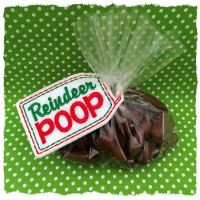 Reindeer Poop Treat Bag Topper