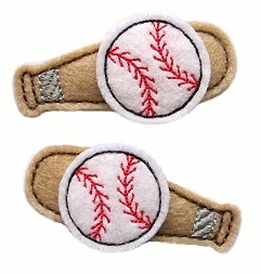 Baseball Bat Clip Cover Felt Stitchies