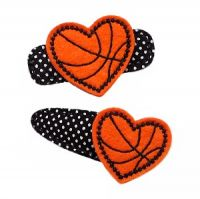 Heart Basketball Felt Stitchies